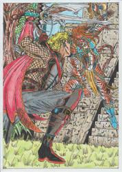 Korbik vs Sara ... FIGHT ON! by conradknightsocks