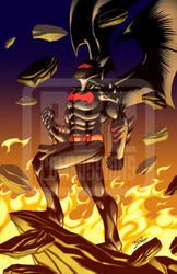 Hellbat - Full-Body Commission Sample by BurrellGillJr