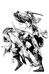 Leinil Yu New Avengers cover by JonBolerjack