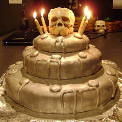 Birthday Dethday cake by ryukuku