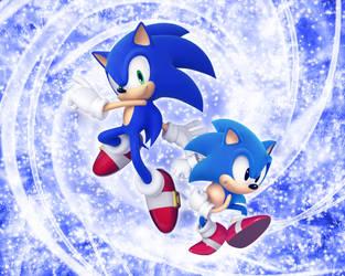 Sonic Generation Wallpaper by NoNamepje