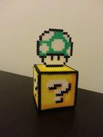 1-Up Mushroom Question Block by Samii-Doll