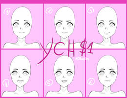 [YCH] CLOSED 100pts Character Avatar Expressions by Miranim