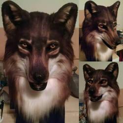 Eurasian Wolf Mask - April 2016 by netherdenstudio