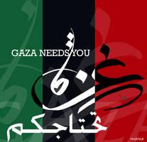 GAZA NEEDS YOU3 by bsoOma