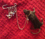 Taxidermy mouse broach, pin, by amandas-autopsies