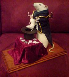 Taxidermy rat, clockwork by amandas-autopsies