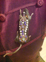 Taxidermy mouse brooch, jewels by amandas-autopsies