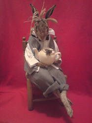 Taxidermy Mad March Hare by amandas-autopsies