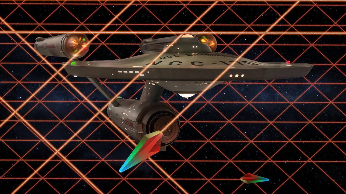 Restored Starship Enterprise Model in Tholian Web by Cannikin1701