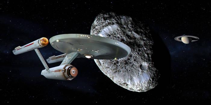 Restored Starship Enterprise Model at Hyperion by Cannikin1701