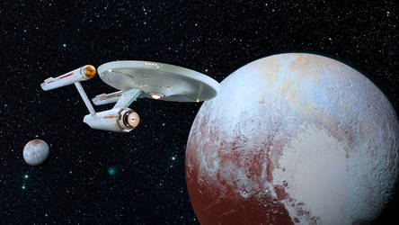 Restored Starship Enterprise Model at Pluto by Cannikin1701