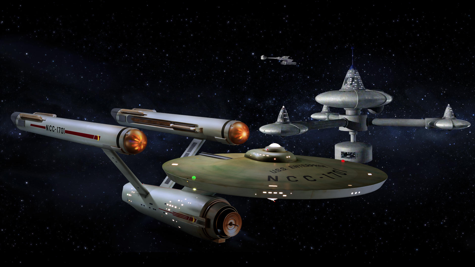 Restored Starship Enterprise Model at K-7 Station by Cannikin1701