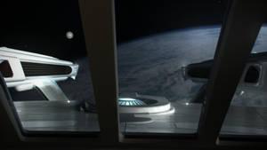 Officer's Lounge: Earth Departure by Cannikin1701