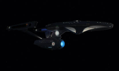 The refit USS Enterprise in 4k by Cannikin1701