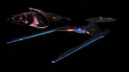 Vulcan cruiser comes alongside Discovery by Cannikin1701