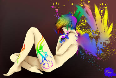 Paint me a Rainbow...Dash by Rayna-Crazy