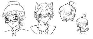 Pencil Sketches by foxumon