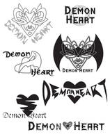 Demon Heart Logo Contest Entry by foxumon