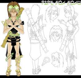 Pipe Fox Foxu Character Sheet by foxumon