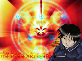 The Flame Alchemist Wallpaper by foxumon