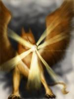 Hikari Griffin by LluhnarDragon