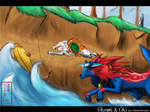Okami-Water Race by LluhnarDragon
