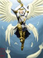 Angelic Strike.... by LluhnarDragon