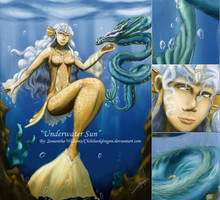 Commission00-Underwater Sun by LluhnarDragon
