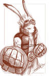 Sketch: King Kazma by LluhnarDragon