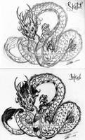 Trad: Chinese Dragon by LluhnarDragon
