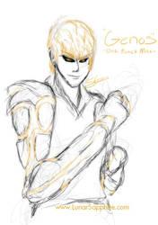 Genos Sketch by LluhnarDragon