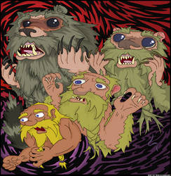 Rage of the Wereraccoon by kruggsmash