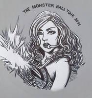 Lady Gaga - Monster Ball 2011 by Terra7