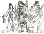 Blood Talon Trio (12 Years Later) by AegisKHAOS