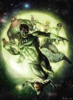 Green Lantern Corps by boscopenciller