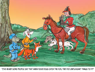 Commission - Fox Hunting by Granitoons