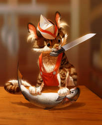 Sushi Chef Kitty by Pixxus