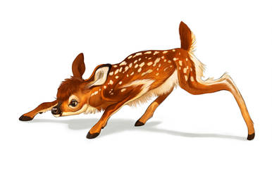 Fawn Painting by Pixxus