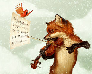 Fox and the Fiddle by Pixxus