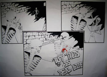 Skeleton Knife Fight by electro33