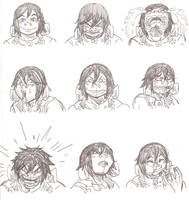 Butcher Expressions by JordanLCook