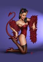 Sanaz Pinup Devil by Age-Velez