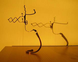 Eyeglass Frame Sculpture 3 by Maluviam