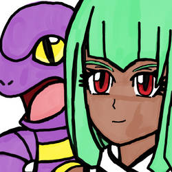 Emerald and Ekans by WhiteRose1994