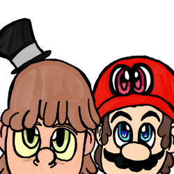 Mario, Cappy and Harrison by WhiteRose1994