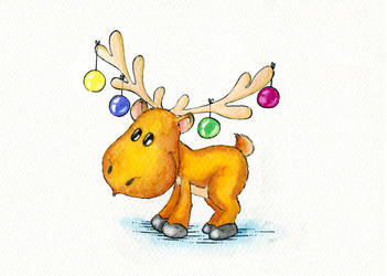 New Year Moose by Ritsy
