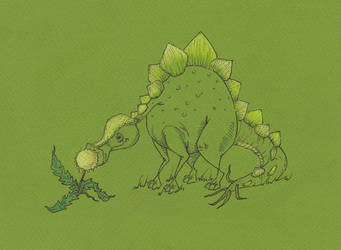 Dino and dandelion by Ritsy
