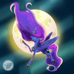 Princess of the night by byDaliaPamela