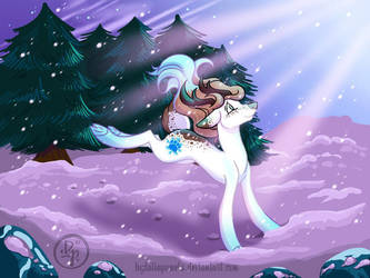 Its snowing by byDaliaPamela